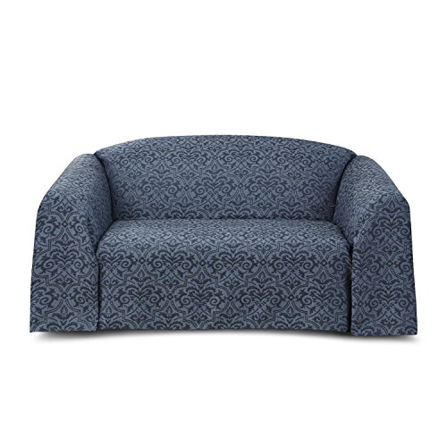 RENAISSANCE HOME FASHION NATALIE Woven Furniture Throw, Large Sofa, Indigo,Large Sofa