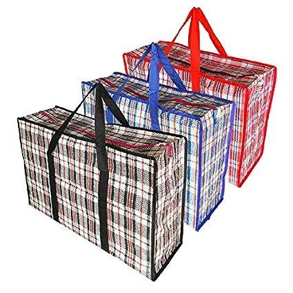 Jumbo sacs à linge Zippé Réutilisable Large Solide Shopping//Sac de rangement Vendeur Britannique