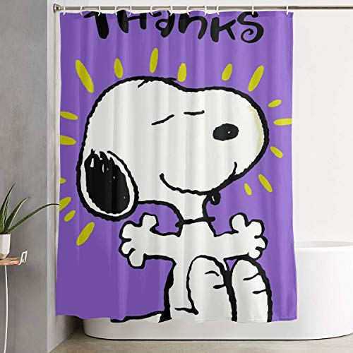 Meirdre Stylish Shower Curtain Thank You Snoopy Printing Waterproof Bathroom Curtain 60 X 72 - You Thank Snoopy