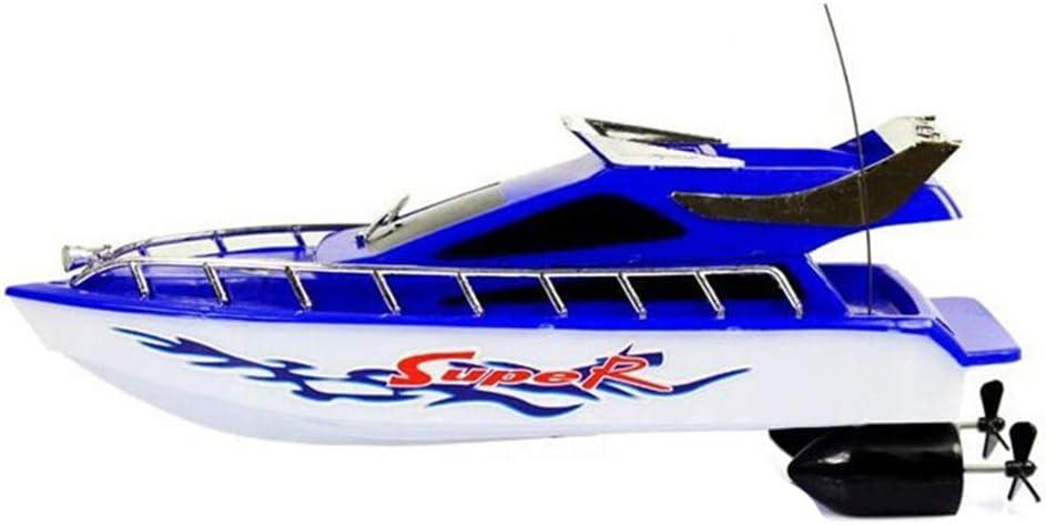 GCDN Control Remoto eléctrico Barco Mini RC Boats Control Remoto de plástico Racing Speedboat Boats para Piscinas y Lagos, Kid Chirdren Summer Aquatic Toy Color Random