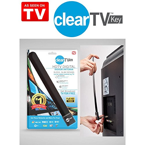 Satelitte Tv - New Clear TV Key HDTV FREE TV Digital Indoor Antenna Ditch Cable As Seen on TV