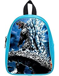 Emana custom Godzilla backpack school Student Shoulder bag School Bag for kids (large)