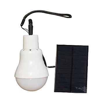 Xpccj - Bombilla LED Solar con Panel Solar, Lámpara Colgante Multifuncional para casa, Camping, Emergencia: Amazon.es: Jardín