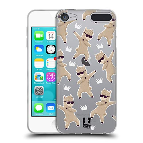 Head Case Designs Llama Dabbing Animals Soft Gel Case for Apple iPod Touch 6G 6th Gen ()