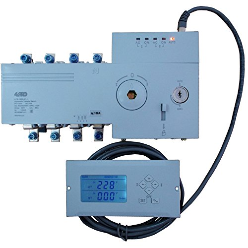 4PRO ATS-100A-4P-i Automatic Transfer Changeover Switch, 100A, 230/400V, 50/60Hz, 1-3 ()
