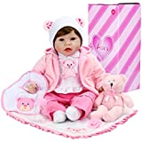 Aori Reborn Baby Doll 22 Inch Handmade Realistic Baby Doll with Soft Body for Girls Children Gift