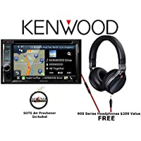 Kenwood eXcelon DNX693S Navigation w/ Bluetooth HD Radio and Headphones KH-KR900 with a FREE SOTS Air Freshener Package