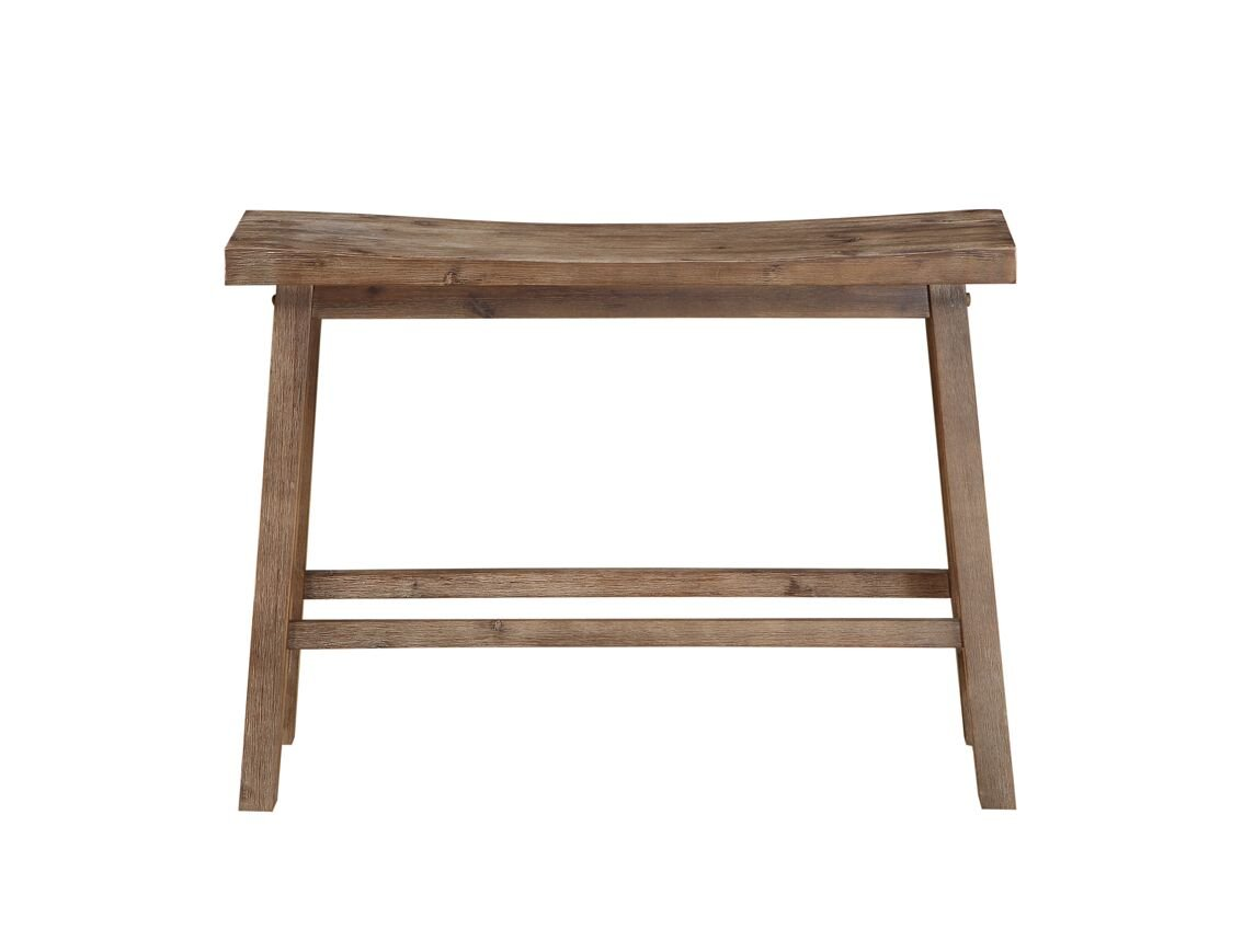 """Boraam Sonoma Saddle Bench, 24"""", Neutral Driftwood Gray Finish - Beautiful Contemporary 2 Seater Saddle Bench, 24-Inch Neutral Driftwood Gray Finish incorporates into many color palettes Made from exotic Acacia wood - entryway-furniture-decor, entryway-laundry-room, benches - 51Vg3wAM5gL -"""
