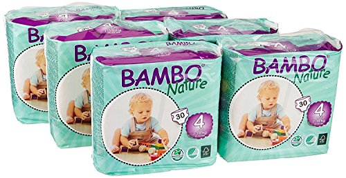 Bambo Nature Baby Diapers Classic, Size 4 (2 Cases of 180), 360 Count by Bambo Nature