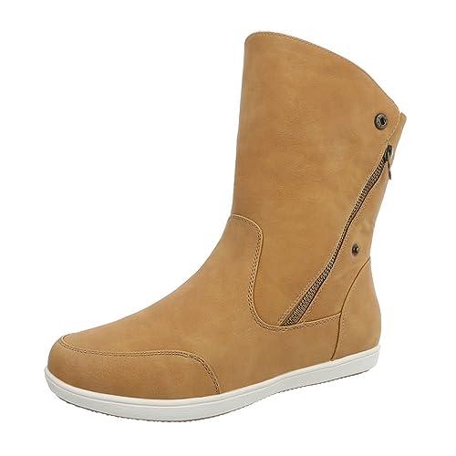 Zapatos para Mujer Botas Plano Botines clásicos Marrón Tamaño 37: Amazon.es: Zapatos y complementos