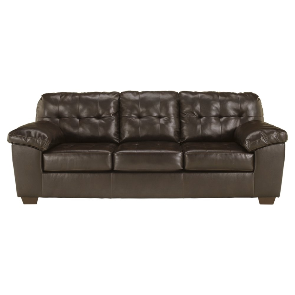 Amazon.com: Ashley Furniture Signature Design   Alliston Contemporary  Upholstered Sofa   Chocolate: Kitchen U0026 Dining