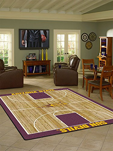 Arizona State College Home Basketball Court Rug: 5'4