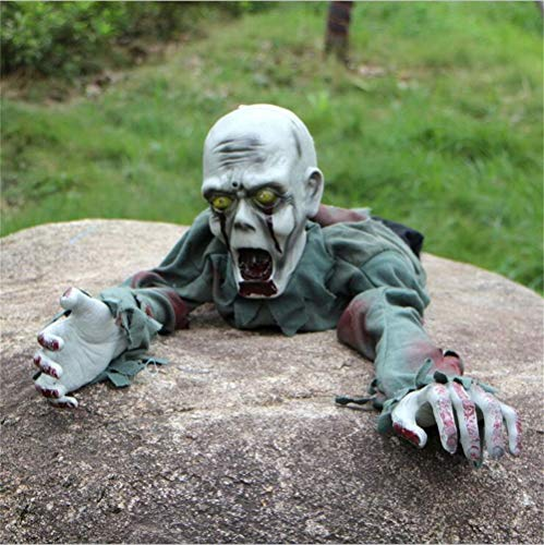 YCRD Halloween Zombie Prop, Secret Room, Ghost House, Bar Decoration, Prop, Terror Skull, Electric Crawl, Dry Battery Power Supply. -