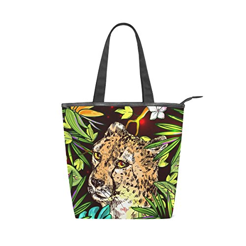 Cheetah Canvas MyDaily Tote Bag Handbag Tote Shoulder Womens Canvas Tropical MyDaily ZqZ4FI8