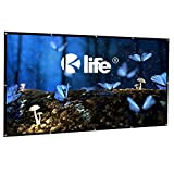 100 Inch Projector Screen with Free Hooks, HD 16:9 Portable Foldable Indoor Outdoor Movie Screen, 2 lbs Only