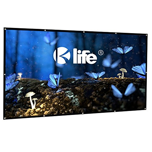 100 Inch Projector Screen, HD 16:9 Portable Foldable Indoor Outdoor Movie Screen, 2 lbs Only by Kolife