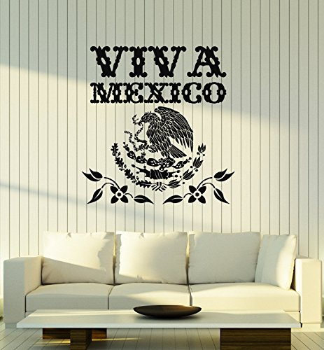(Large Vinyl Wall Decal Viva Mexico Mexican Eagle Symbol Art Decor Stickers Mural (ig5202))