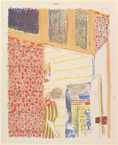 Historic Pictoric Fine Art Print | Édouard Vuillard | Interior with Pink Wallpaper III, from The Series Landscapes and Interiors | Vintage Wall Art | 16in x 20in