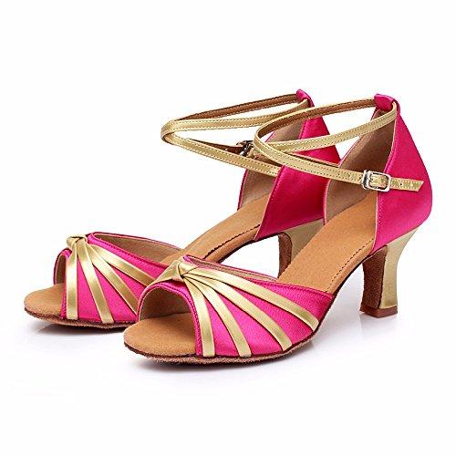 Tacón De Zapatos Latino Baile Del Black Tango Mujer 5cm 808 nbsp;la Salón Yff HIq8x