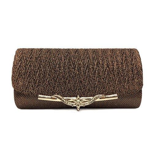 Luxury Handbags brown Chain Evening Shiny Glitter Handbag Bride Party With Wedding Women Bag Ladies GAOXIA 1E6Owqx806