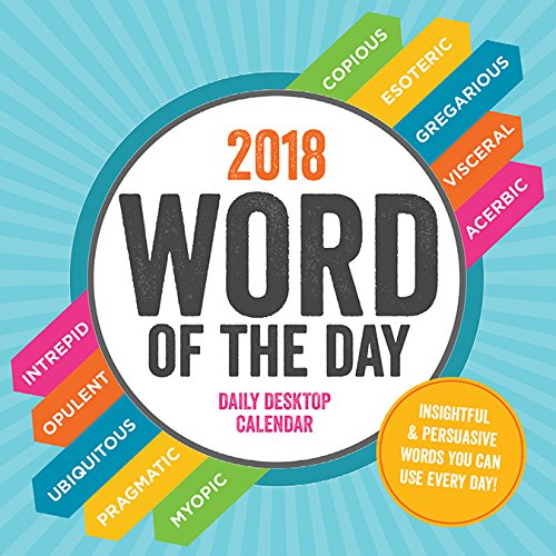 Word of the Day 2018 Daily Desktop Calendar Not Available Time Factory 9781683751540 NON-CLASSIFIABLE