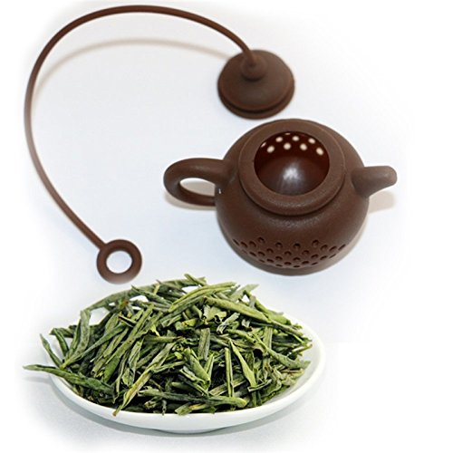 Funnytoday365 Creative Silicone Tea Bag Tea Pot Shape Tea Filter Infusers Safe Clean 1Pcs by FunnyToday365 (Image #1)