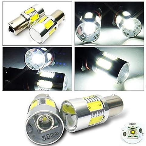 LEDIN 2x 1156 CREE XR-E Projector LED Back Up Reverse Light Bulb 7506 BA15s P21W White (71 Chevelle Led Tail Lights)