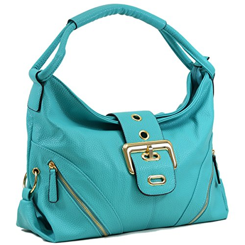 Large Flap Purse - DASEIN Womens Shoulder Bag Buckled Flap Handbag for Woman Top Handle Purse Designer Fashion Hobo Bag