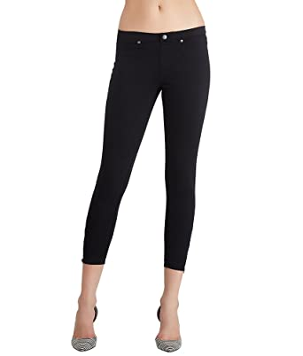 1aa2bf5ea6af31 Image Unavailable. Image not available for. Color: HUE Super Smooth Denim  Ankle Zip Skimmer Leggings ...