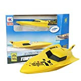 Vovotrade Remote Control Boat RC 4CH 2.4G Racing Waterproof Remote Outdoor Toys (Yellow)