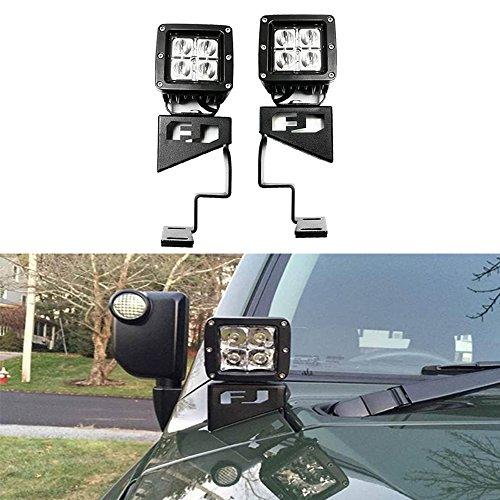 Amber LED CH4x4 Toyota Push Switch FJ Cruiser Hood Spot Lights Symbol