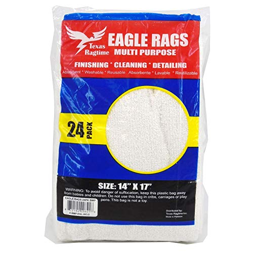 - Eagle Rags Bar Rags All-Purpose Bar Mop Towels, Cotton, Premium Grade for Commercial and Home Use - 24-Pack - White (14