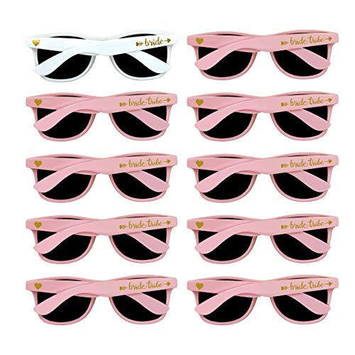 Bridal Shower Favors Bachelorette Party Supplies 10pcs Pink Weddings Sunglasses -