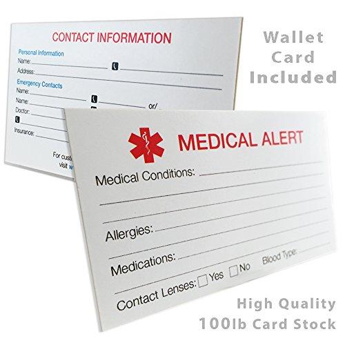 Mon identité Médecin pour enfant bracelet médical pour identification, Épilepsie,–Poignet Taille 5en + (O-Link Chaîne) Day