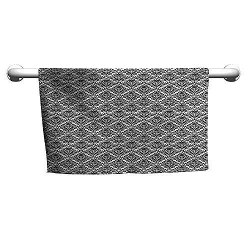 alisoso Damask,Best Bath Towels Antique Leaf Motifs W 35
