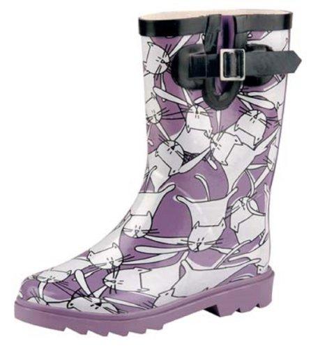 Natural-Breeze Childrens Rubber Rain Boots Cat Design