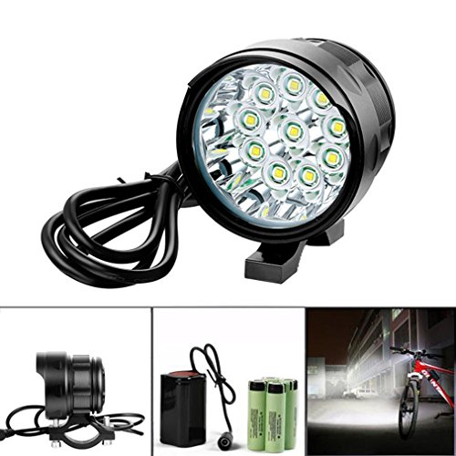 Bicycle Light, TopTen 10x T6 LED 10000 Lumens 3 Modes Ultra Bright Bike LED...