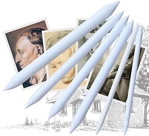 Artibetter 6pcs Paper Blending Stump and Tortillions Set Artist Sketch Rub Drawing Tool