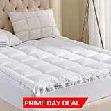 Waterproof Mattress Pad Queen witone Mattress Pad Queen Size 400TC Cotton Top 3M Water Resistant Hypoallergenic-54oz Down Alternative Filling Pillowtop Mattress Topper Cover-Fitted Quilted 8-21 Inch Deep Pocket