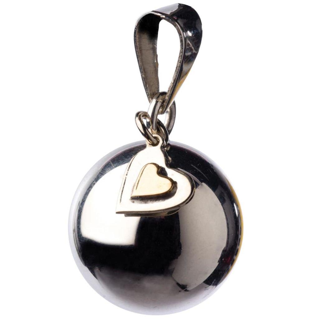 Bola Schönes-Schmuckstück Schwangerschaft mit Xylophon ein kleines Herz silber mit Herzbauch BABJV BOLA VK880