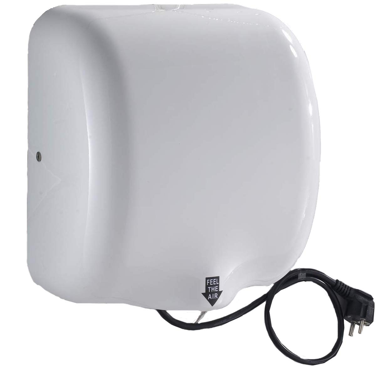 Mophorn 1800W Automatic Hand Dryer 110V Stainless Steel Commercial Electric for Hotel Home Bathrooms (White), Ceramic Type/1800W
