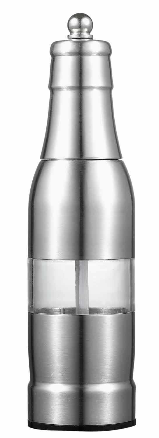 Visol Yucatan Stainless Steel Pepper Mill and Grinder, 6.5-Inch, Silver VAC356