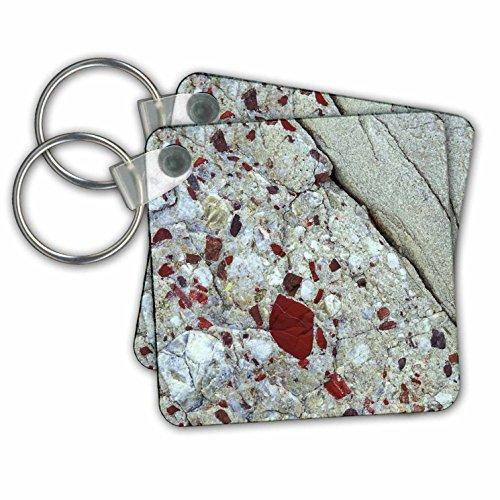 (3dRose Pudding Stone, Jasper Quartz, Rock Mineral Us23 Bja0030 Jayne's Gallery Key Chains, Set of 2)