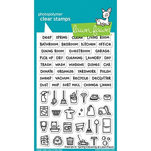 Lawn Fawn Clear Stamps LF1607 Plan On It: Spring Cleaning by Lawn Fawn