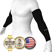 N-Rit Tube 9 Coolet 2 Cooling Compression Sports Arm Sleeve [2 PK] [White & Black] w/ 99% UV Protection for Outdoor Activities (Golf, Training, Cycling, etc)