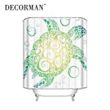 DECORMAN Sea Turtle Shower Curtain - Standard White Waterproof Shower Curtain Surprised Gift Shower Curtain