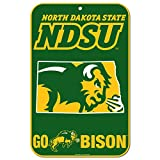 WinCraft North Dakota State Bison Official NCAA 11'' x 17'' Plastic Wall Sign 11x17 by 576606