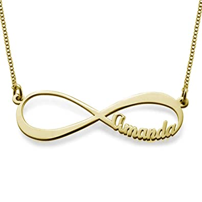 7ad26d3b2e5c6 Amazon.com: Personalized Infinity Necklace with Name on it 925 ...