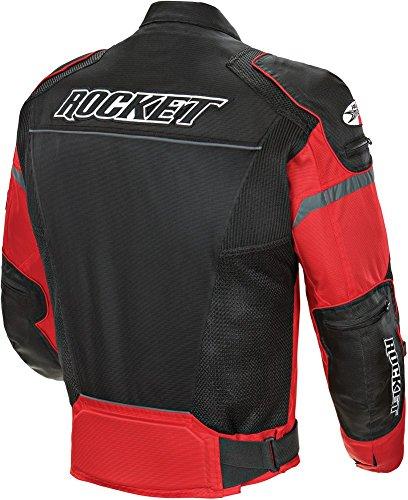 Sullivans Joe Rocket Men's Resistor Mesh Jacket in Red/Black - Medium