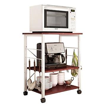 Superieur Polar Aurora 3 Tier 24u0026quot; Microwave Stand Storage Kitchen Bakeru0027s Rack  Utility Microwave Oven